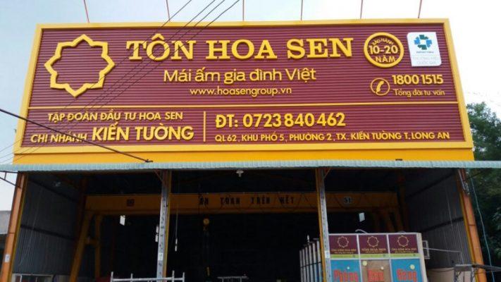 bảng hiệu tole chữ nổi tại Phan Thiết, Bình Thuận