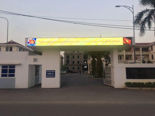 Lắp đặt màn hình LED cổng chào ở Phan Thiết Bình Thuận